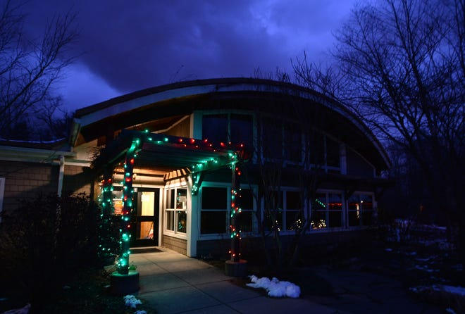 The Andrew J. Conner Nature Center at Asbury Woods in Millcreek Township is shown Dec. 4 during the Winter Wonderland event.
