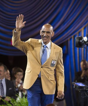 Former Indianapolis Colts and Tampa Bay Buccaneers' coach Tony Dungy, seen here after receiving his gold jacket at the Pro Football Hall of Fame enshrinees' dinner in 2016, says the Jaguars' next regime must establish a consistent philosophy to forge a winning culture.