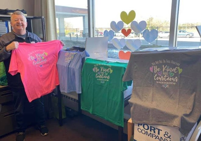 Terri McCrery's husband Troy had the idea to make shirts and donate them to raise the spirit of those working in the hospitals.