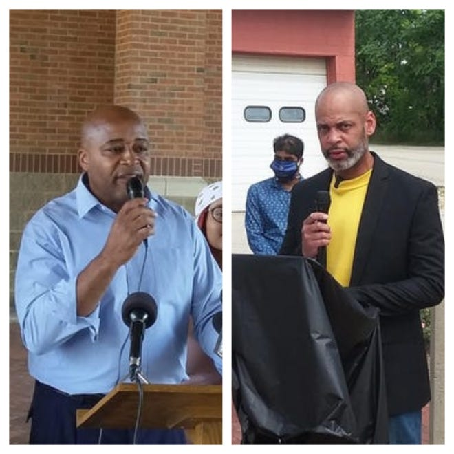 Chuck Brown (left) and Couri Thomas