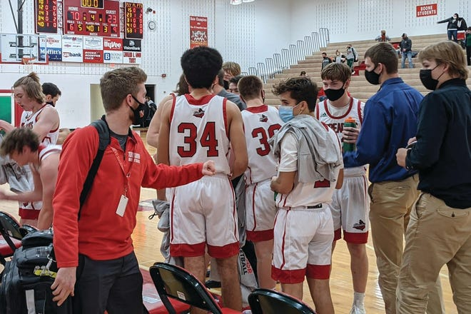 Boone players during a home game on Friday, Dec. 4 against Perry.
