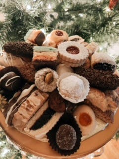 Only the Finest Italian Cookies are a second generation business. Their trays are available for pick-up or delivery.