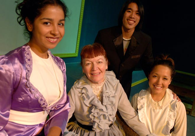 """Dorothy Blais Mulvihill, center, in the University of the Pacific production of """"A Little Night Music."""""""