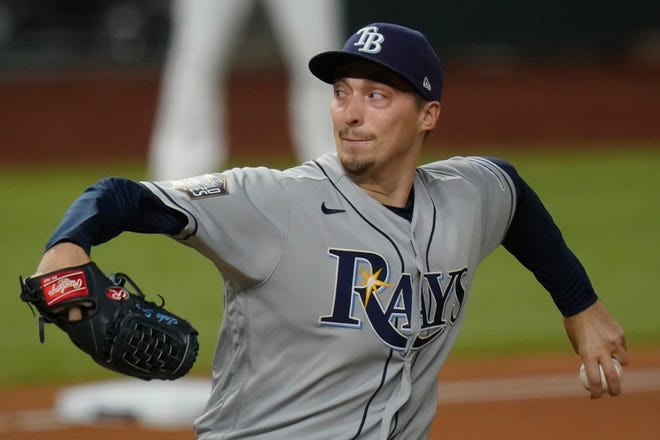 The Rays have discussed trading 28-year-old former Cy Young award winner Blake Snell as a way to gain financial flexibility coming off an abbreviated 2020 seasonin which principal owner Stuart Sternberg said they lost a massive amount of money.