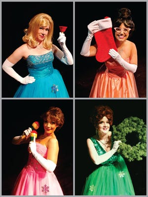 "Clockwise from top left, Sarah Cassidy, Shannon Wright, Michelle Anaya and Genesis Perez-Padilla star in ""Winter Wonderettes"" at the Manatee Players."