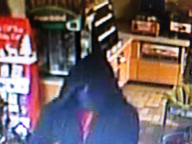 Surveillance footage of suspect in Speedway robbery