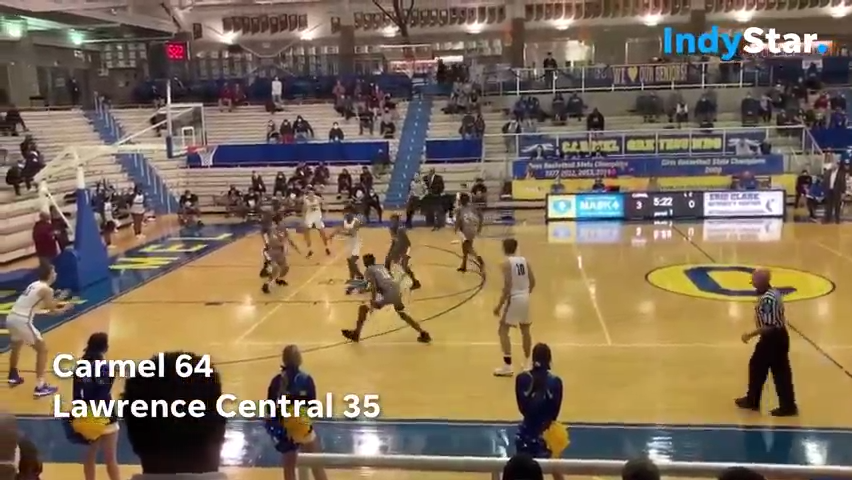 Indiana High School Basketball Highlights: Carmel 64, Lawrence Central 35