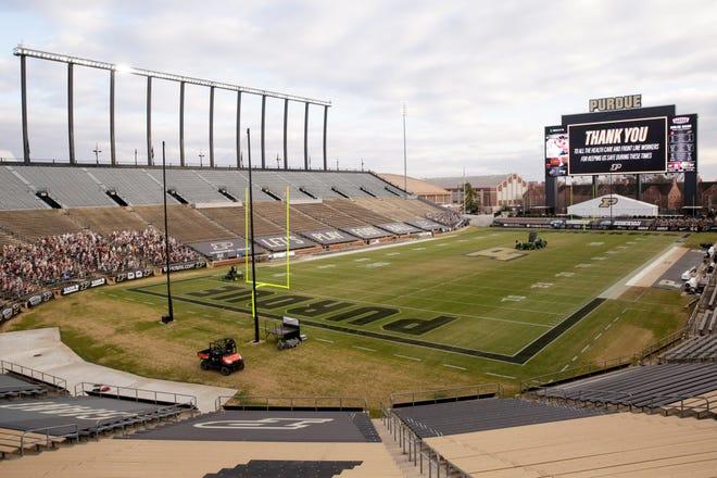 Inside Purdue University's Ross-Ade Stadium, Saturday, Dec. 5, 2020 in West Lafayette.
