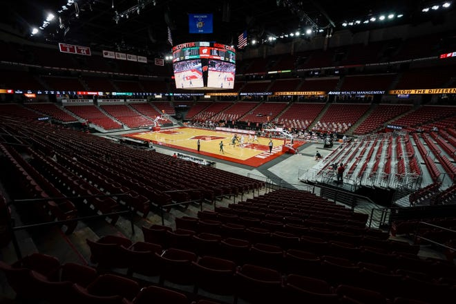 The Kohl Center seats will be empty again Wednesday. Now the question is whether the Louisville Cardinals will be there to face Wisconsin.