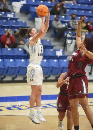 Mountain Home's Kate Gilbert puts up a shot during a recent home game.