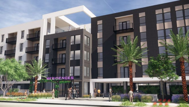 A new 310-unit apartment complex is planned at Rio Salado Parkway and Smith Road in north Tempe.