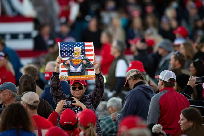 A throng of Donald Trump supporters await his arrival at a rally Dec. 5 in Valdosta, Georgia.