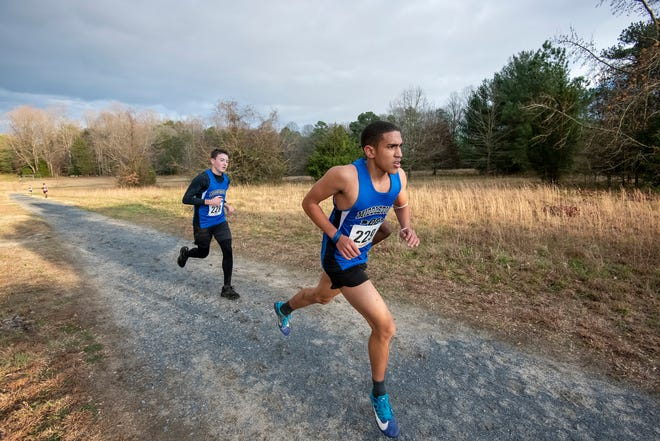 DIAA 2020 Cross Country Boy's Division I Championship at Killens Pond State Park in Felton, Del.