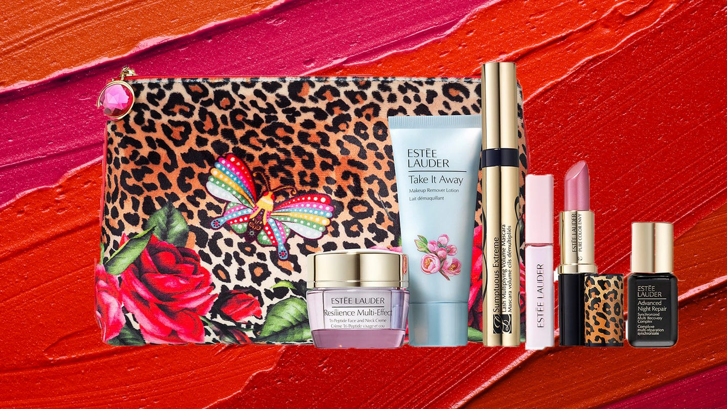 This 7-piece Estée Lauder free gift can be yours when you buy new makeup at Macy's