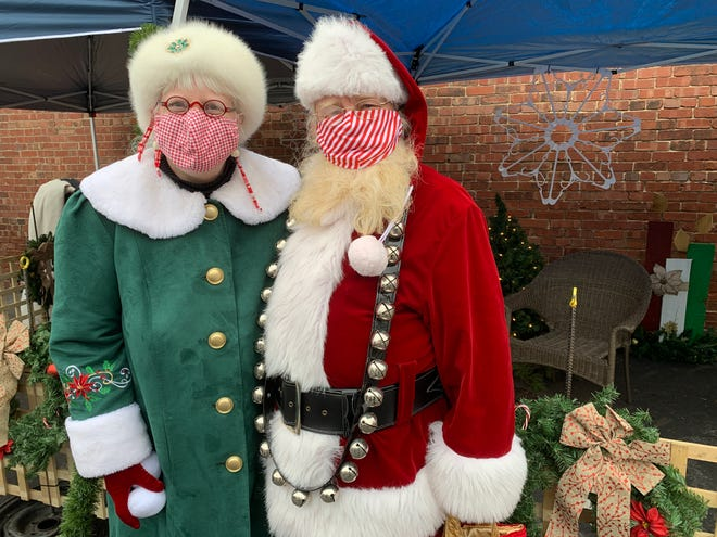 Mrs. Claus and Santa were once again the hit of the Dalton Holidays Festival.