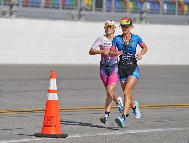 Competitors race during Women's Daytona Challenge Daytona race at Daytona International Speedway, Sunday, Dec. 6, 2020.