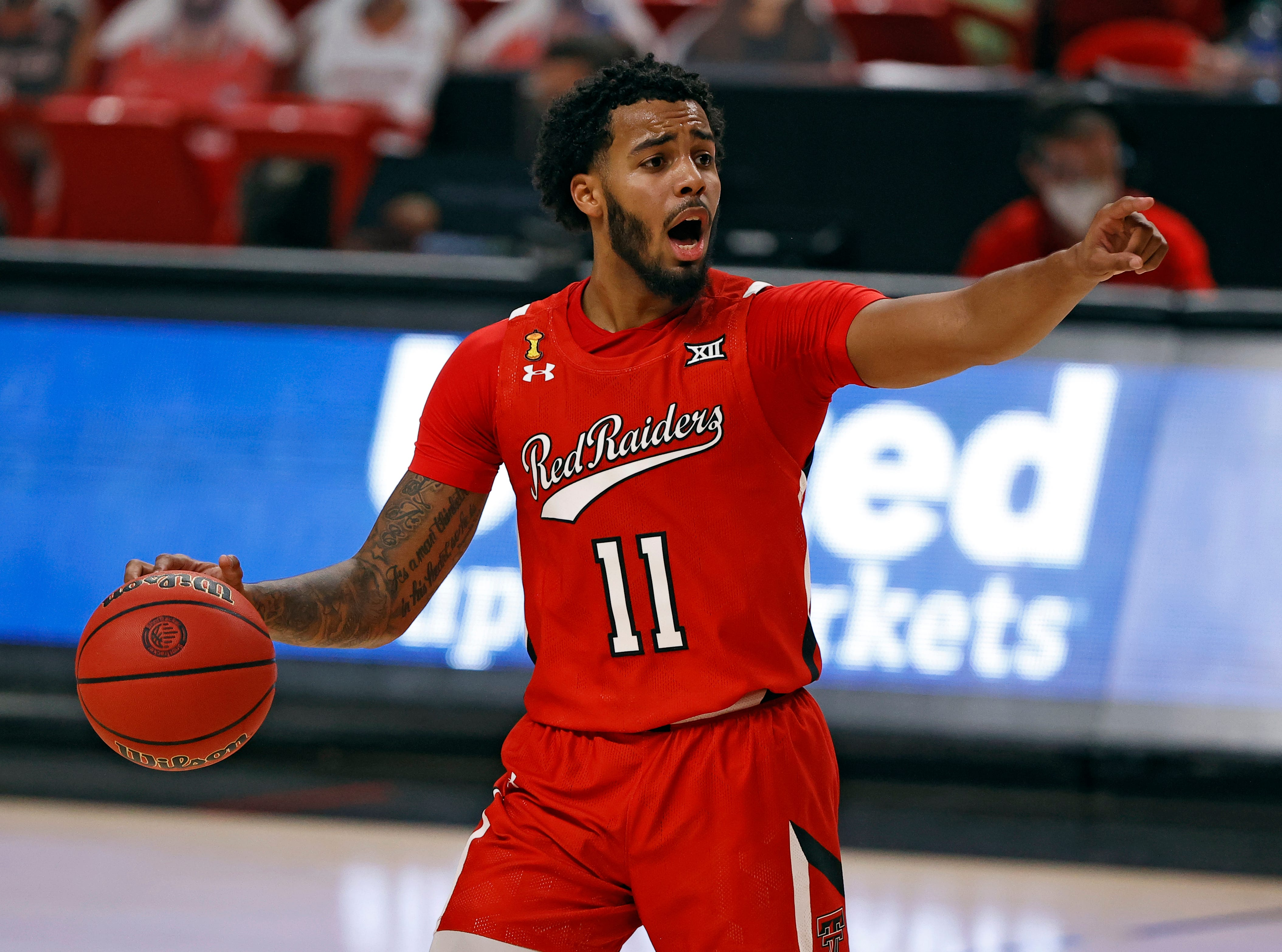 Texas Tech S Kyler Edwards Secures First Double Double No 17 Red Raiders Tour Grambling State