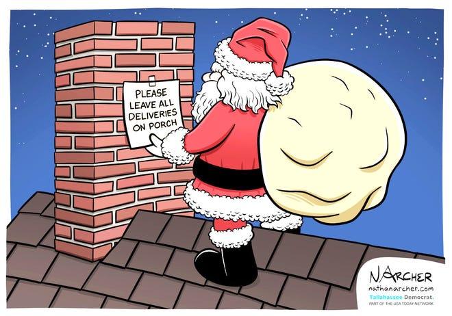 A Nathan Archer cartoon about social distancing