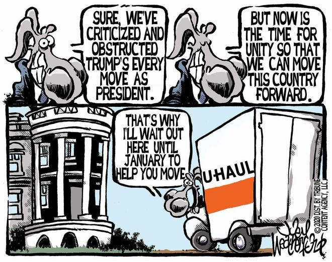 A Joey Weatherford cartoon about obstructionism