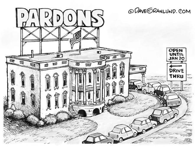 A Dave Granlund cartoon about presidential pardons