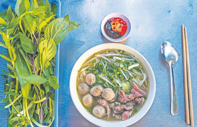 The easiest way to make herb soup is to get some broth, get some herbs, and start playing.