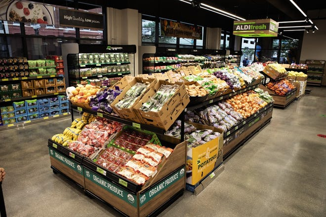 ALDI grocery stores feature a fresh-daily produce department.