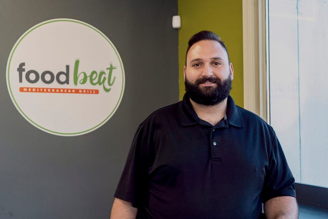 Mario Azraka, chef/manager of Foodbeat Mediterranean Grill, which was recently opened by his friend George Makhlouf.