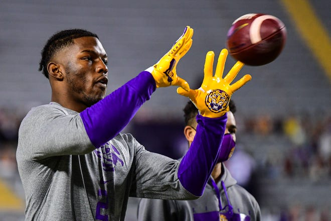 Arik Gilbert had 35 receptions in eight games in 2020 for LSU.
