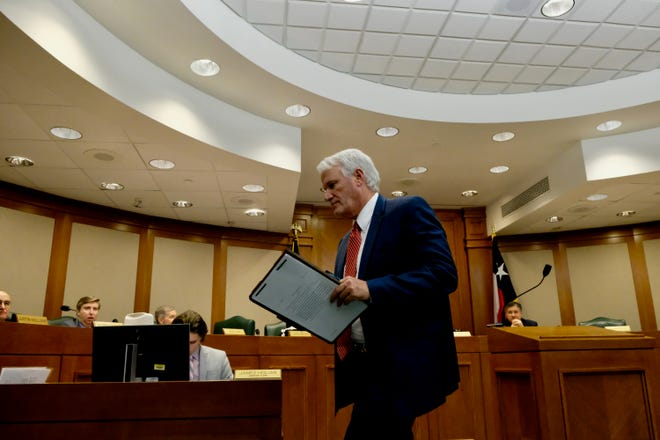 State Rep. Lyle Larson, R-San Antonio, shown after a committee meeting in 2019, says the Texas Legislature could address important issues in a more timely manner if sessions were held every year, instead of every other year. [KEN HERMAN / American-Statesman]
