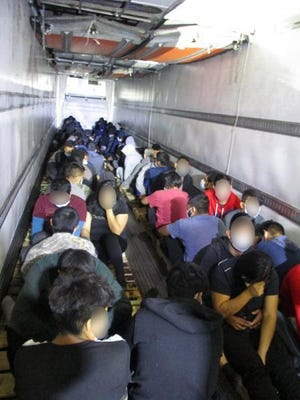 Border Patrol Apprehends Over 200 Individuals Being Smuggled in Commercial Trailers
