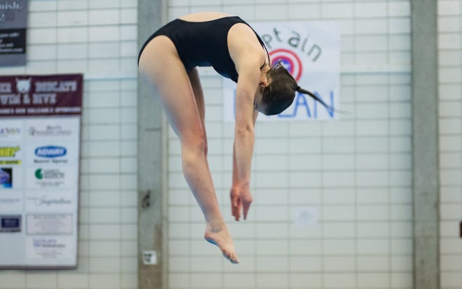 Central Valley's Alexa Gonczi finished third at the WPIAL diving championships last year. She and teammates Alyssa Bruno and Payton Sarver should contend for medals again this year.