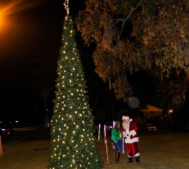 The annual Hardeeville tree lighting was held Dec. 1 in front of City Hall. Santa dropped by the event to light the tree.