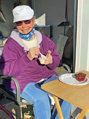 The weather cooperated Saturday so that the family of Norma Schilb could celebrate her 88th birthday with a driveway birthday party at her home.