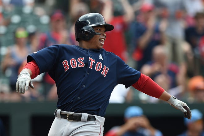 Rafael Devers could be the sort of cornerstone player the Red Sox look to lock up before he reaches free agency after the 2023 season.
