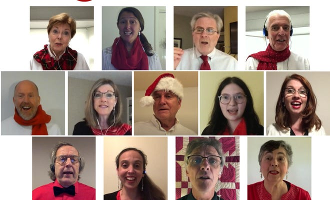 The Centertonix a cappella group, based at Cotuit Center for the Arts, will appear online at 7 p.m. Wednesday as part of the Cape Cod Tufts Club Virtual Holiday Songfest.