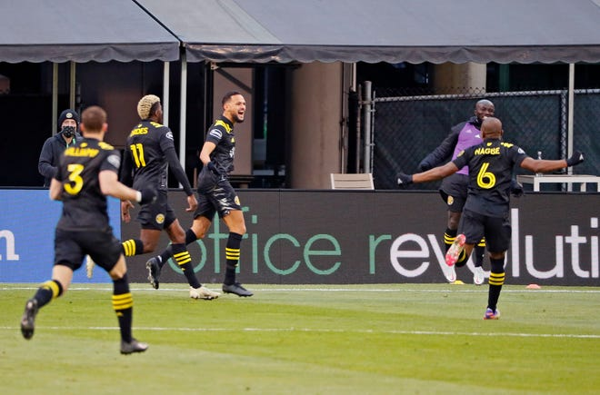Crew midfielder Artur, here celebrating after scoring a goal against New England on Dec. 6, underwent hernia surgery in the offseason and returned to training on Monday for the first time in three weeks.