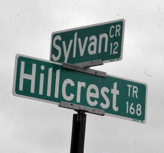 Speed limit change at Sylvan and Hillcrest Roads area.