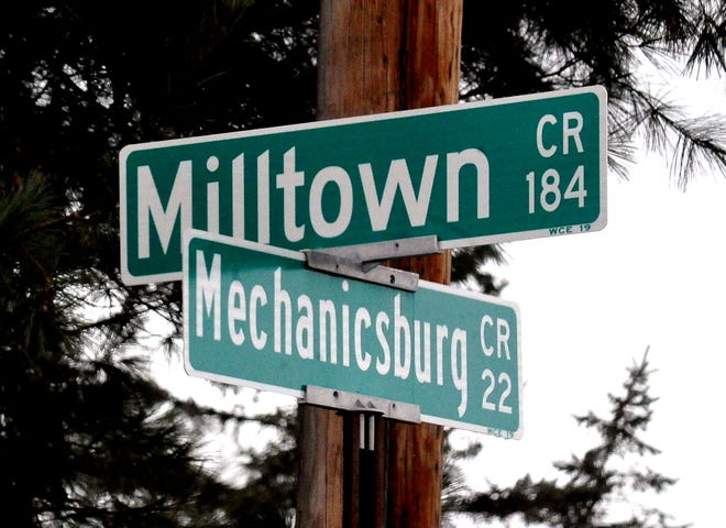 Speed limit change at Milltown and Mechanicsburg Roads area.
