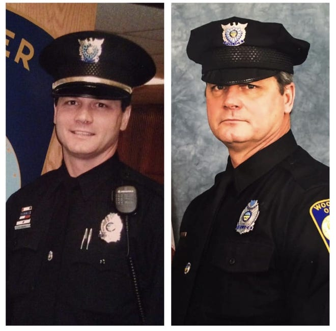 Matt Cruise, community relations officer at Wooster Police Department, will retire after 29 years of service. The left picture was taken circa 1995, and the right was taken last year.