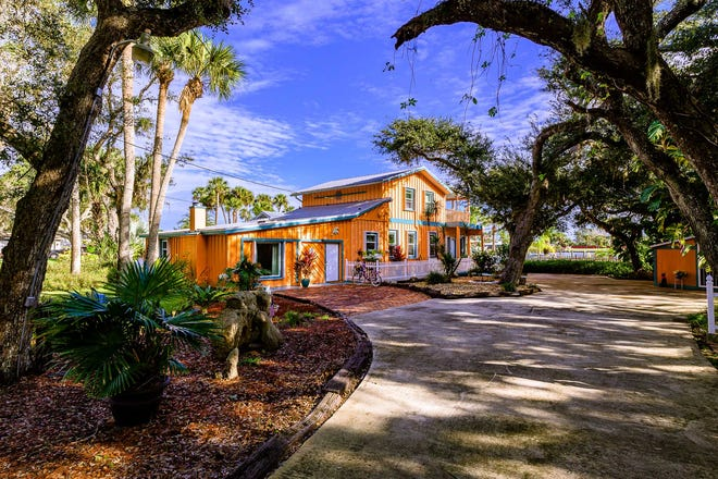 Poised at the top of one of Flagler Beach's most gorgeous and sought-after streets, this immaculate, one-of-a-kind waterfront home is situated on almost three-quarters of an acre of land and a wealth of resort-like amenities.