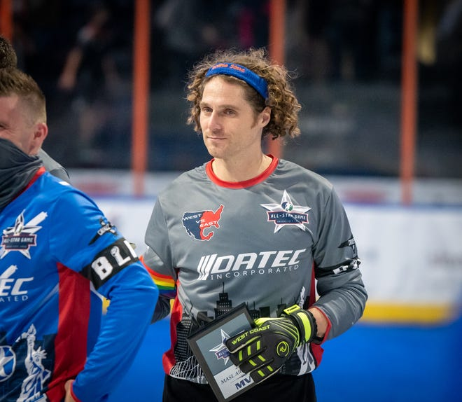 Tacoma Stars goalkeeper Danny Waltman accepts the MVP award at the Major Arena Soccer League All-Star Game in December. The former Kansas City Comet will return to face his former team in its home opener Friday at Cable Dahmer Arena.