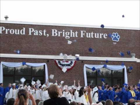 """""""Proud Past, Bright Future"""" is the city's motto that is displayed for all to see on the high school building."""