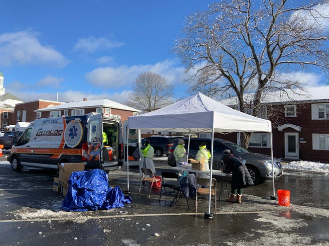 A free mobile COVID testing site attracted hundreds of Gardner residents on Monday, Dec. 7.