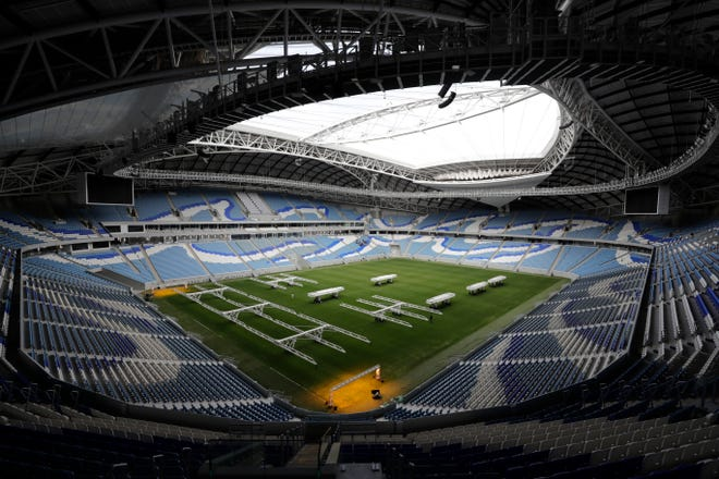 The Al Janoub Stadium in Doha, Qatar, is one of the sites for the 2022 World Cup.