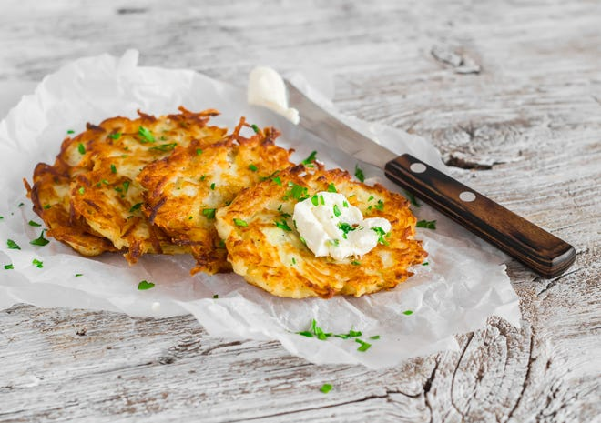 It's always fun to try new twists to holiday classics like latkes or potato pancakes for Hanukkah.