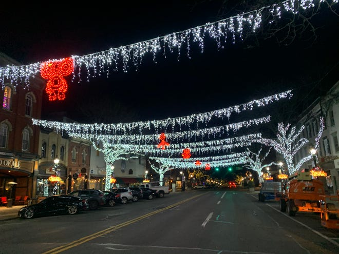 Downtown Stroudsburg looks merrier thanks to a holiday display provided by Netflix.