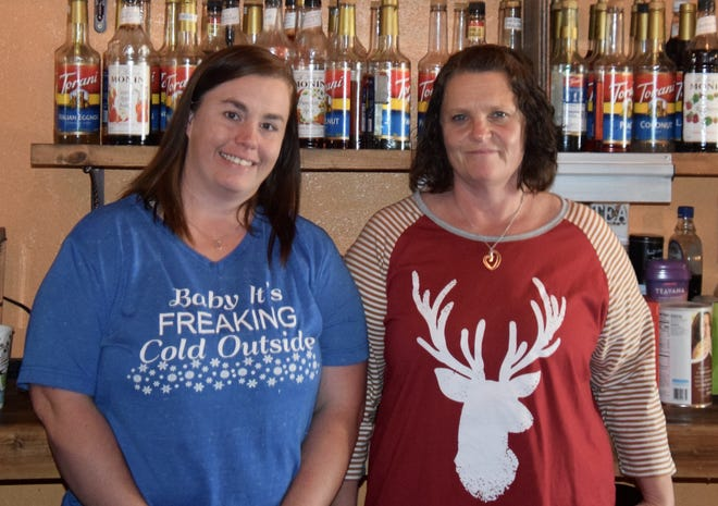 Kristen Vargas (left) and Cathy Vargas operate Faithful Grounds coffee shop at N. 8th Street/Broadway in Ballinger. The shop opened their doors on November 11, 2019 and found success quickly, becoming the go-to destination for fresh breakfast items and lunch specials.