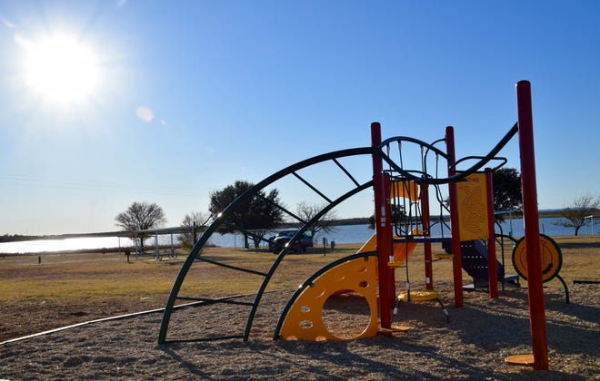 The new playground at Ballinger Lake was completed the week of November 30. The playground was the result of several years of work put in by the Ballinger Park Board. Ballinger Rotary donated $7,500 in money and equipment to help fund the $20,000 project.