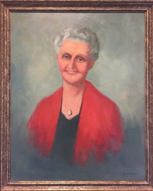 A painted portrait of Mary Peck hangs in COA's River House. Peck's legacy gift made it possible for COA to build the senior center and lifelong learning center on the Matanzas River.