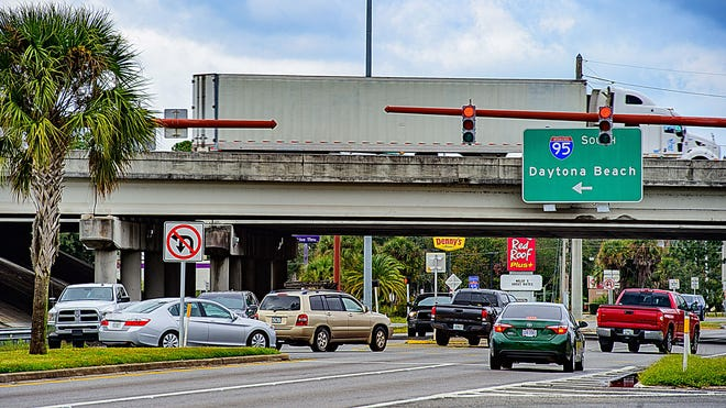 Vehicles pass through the Interstate 95 and State Road 16 interchange in St. Augustine on Monday, Dec. 7, 2020. On Feb. 2, County Commissioners approved a workforce housing development south of S.R. 16 and west of Masters Drive.
